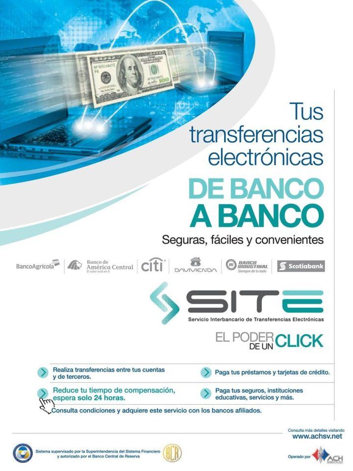 Ya se puden realizar transferencias de banco a banco el salvador