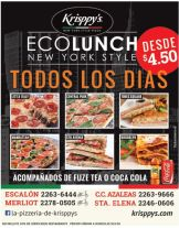 all days ECO LUNCH new york style KRISPPYS pizzeria