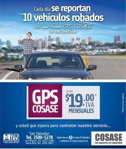 asegura tu auto con GPS service cosase