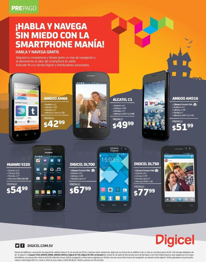 celulares de bajo de costo DIGICEL promociones - 27oct14