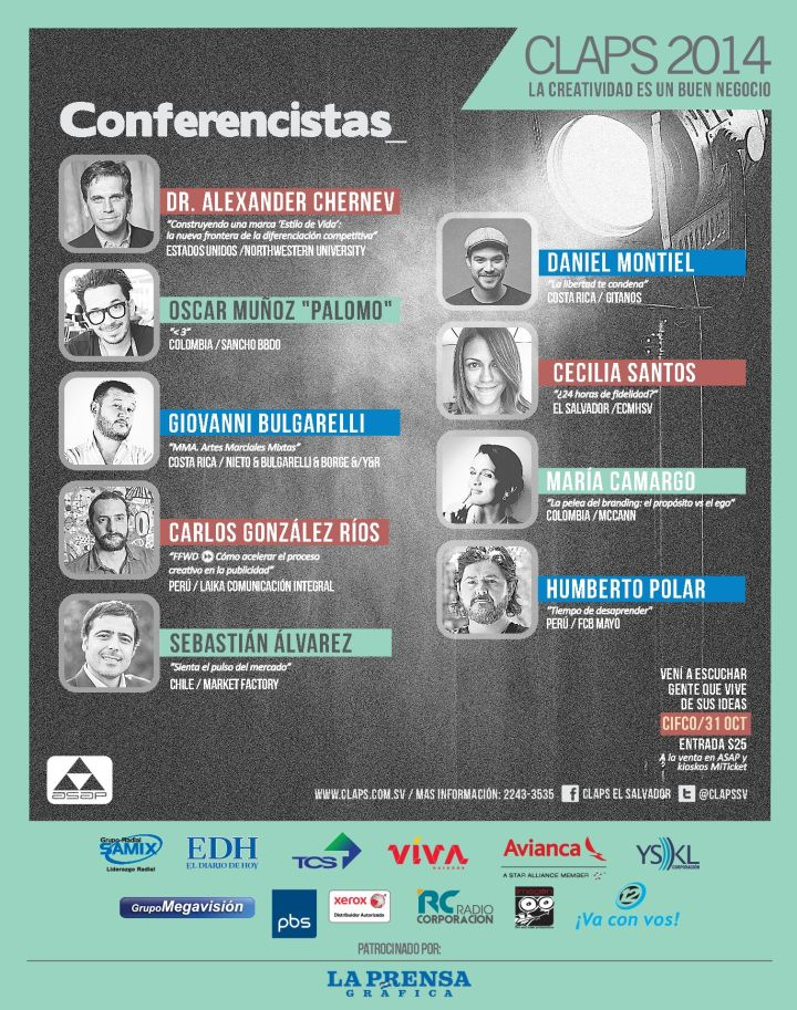 conferencias marketing y creatividad CLAPS 2014