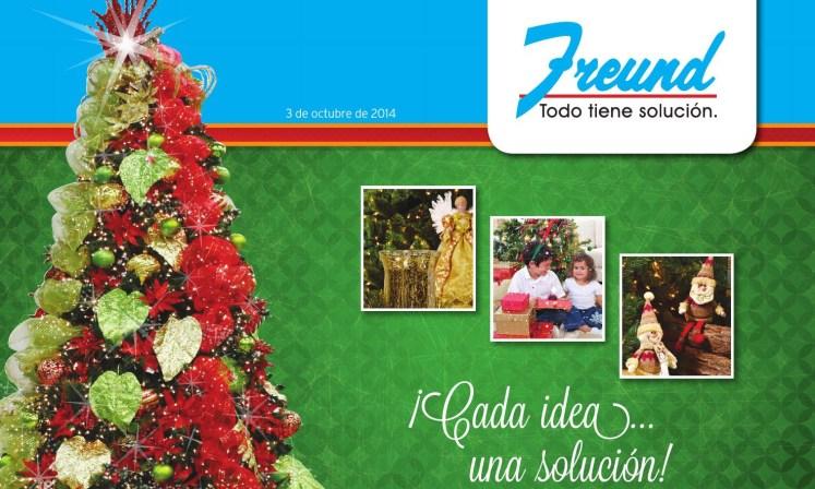 Primer cuadernillo de ofertas de navidad 2014 FREUND ferreteria el salvador.