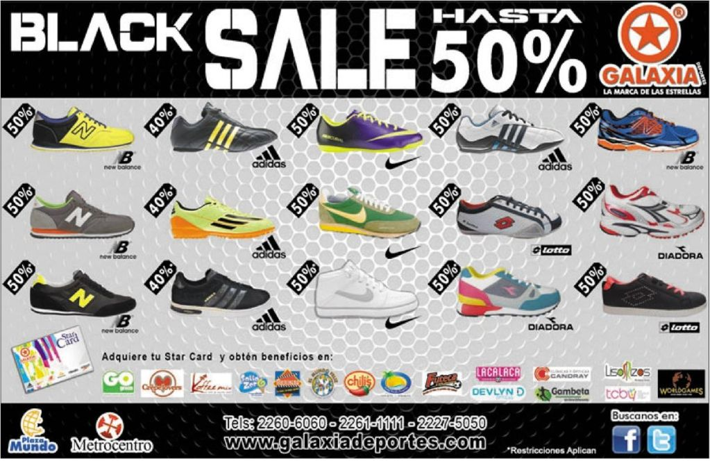 first BLACK SALE sport accesories and shoes GALAXIA - 25oct14