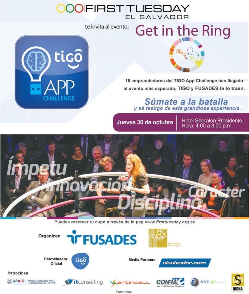 get in the ring APP CHALLENGE tigo 2014