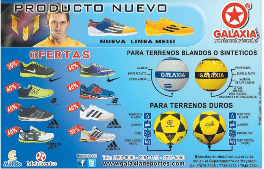new shoes MESSI line GALAXIA sports - 11oct14