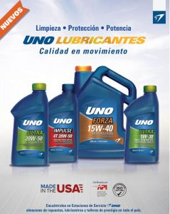 nuevos lubricantes UNO made in usa