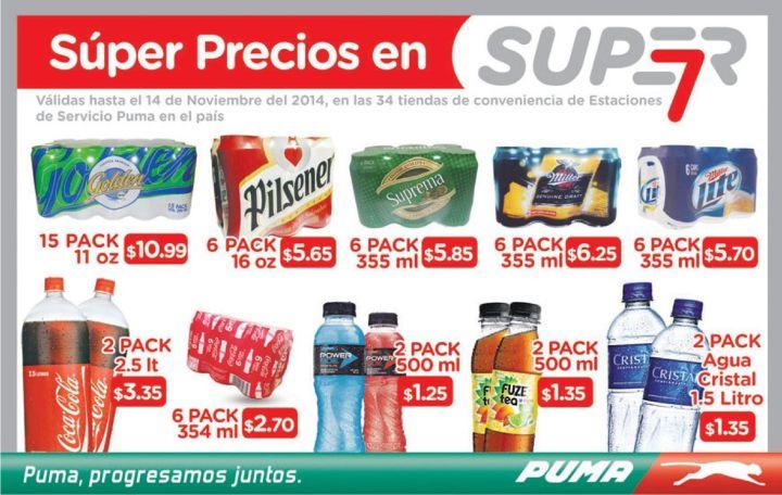 ofertas SUPER 7 market gasolineras PUMA - 17oct14