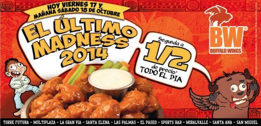 promocion Alitas 2x1 buffalo wings - 17oct14
