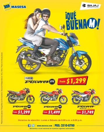 BAJAJ motocicletas presenta nueva DISCOVER M - 24nov14