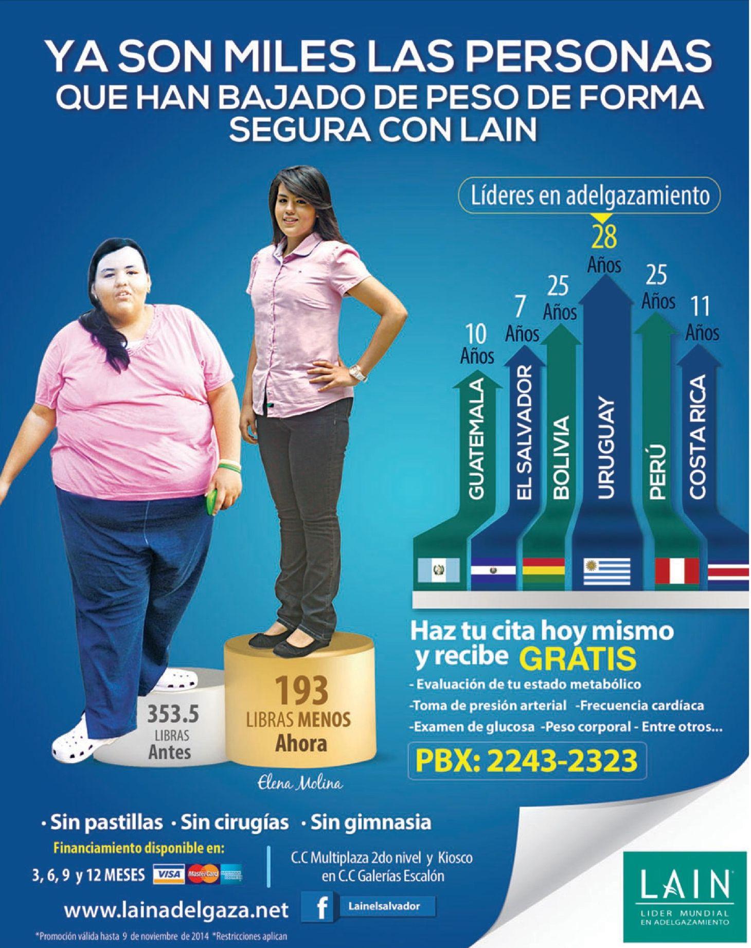 Pastillas para bajar de peso en bolivia