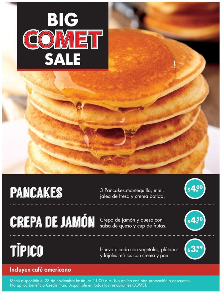 BIG comet sale restaurant - 28nov14