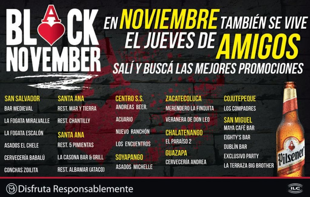 BLACK NOVEMBER amigos Pilsener - 13nov14