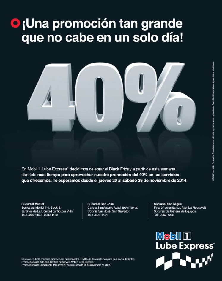 Black aceite MOBIL lube express