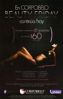 CORPOBELO Beauty FRIDAY promotions - 24nov14