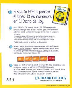 EDH CUPONERA gana unos audifonos BLUETOOTH airis - 04nov14