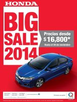 HONDA BIG SALE 2014 models - 12nov14