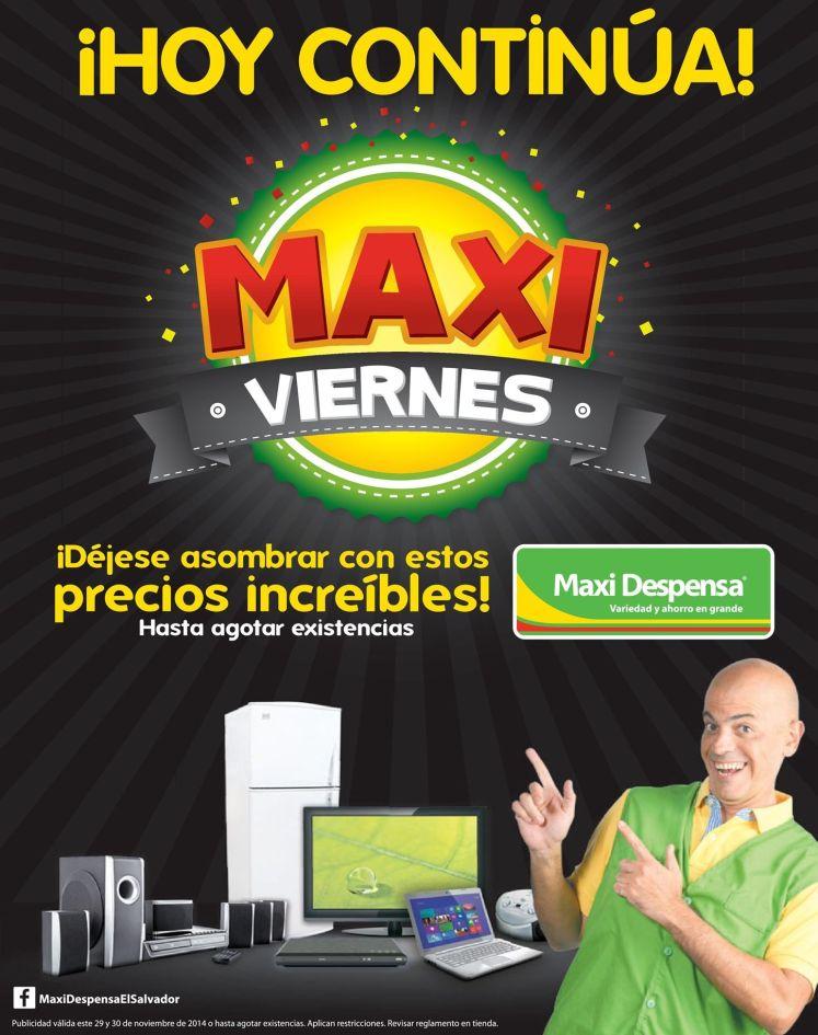 HOY continuan las ofertas MAXI DESPENSA black - 29nov14