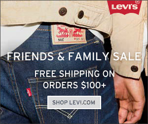 LEVIS friend and family sale