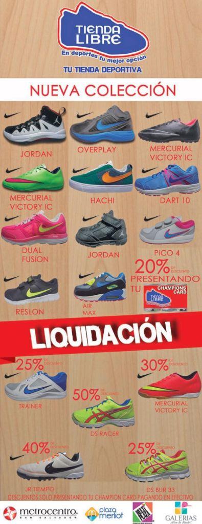 Liquidacon de zapatillas deportivas TIENDA LIBRE - 15nov14