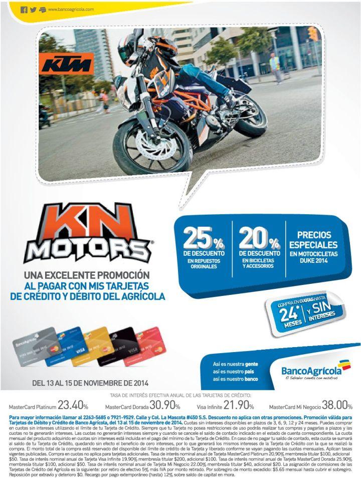 Motorcycle KN motors discounts - 13nov14