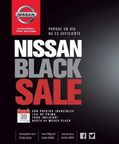 NISSAN BLACK SALE november 14 - 03nov14