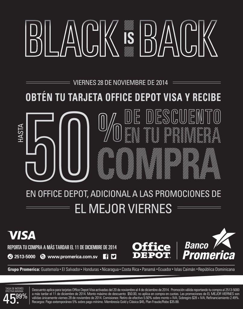 Office Depot additional discounts banco promerica - 27nov14