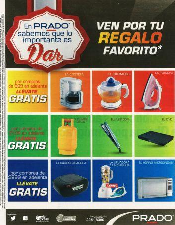 PRADO promociones REGALOS gratis para todos por tus COMPRAS - 07nov14