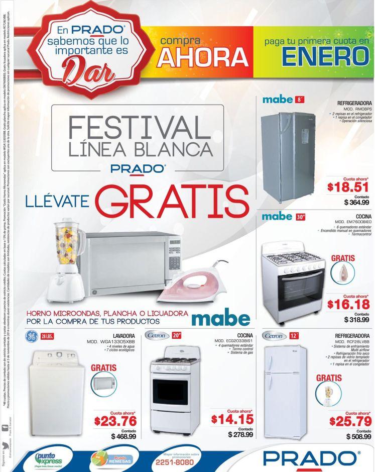 Productos GRATIS por tus compras en electrodomesticos PRADO - 01nov14