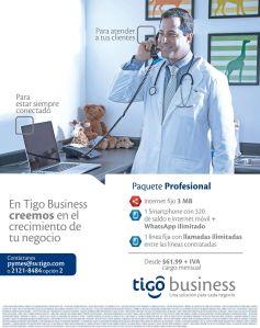 Professional package TIGO BUSINESS telefono movil internet - 04nov14