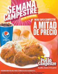 Restaurantes POLLO CAMPESTRE promcoiones mitad de precio - 05nov14