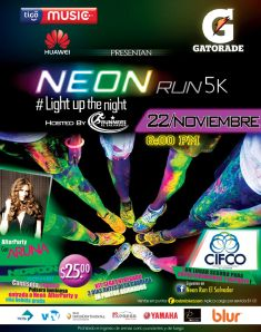 TIGO music and GATORADE present NEON run 5K