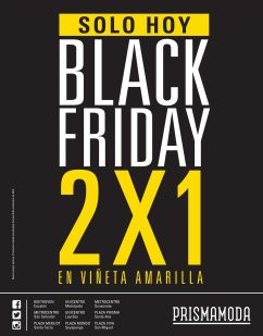 TODAY prisma moda BLACK FRIDAY - 28nov14