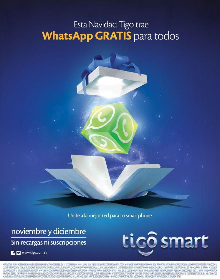 Te gustaria WHATSAPP GRATIS noviembre y diciembre - 05nov14
