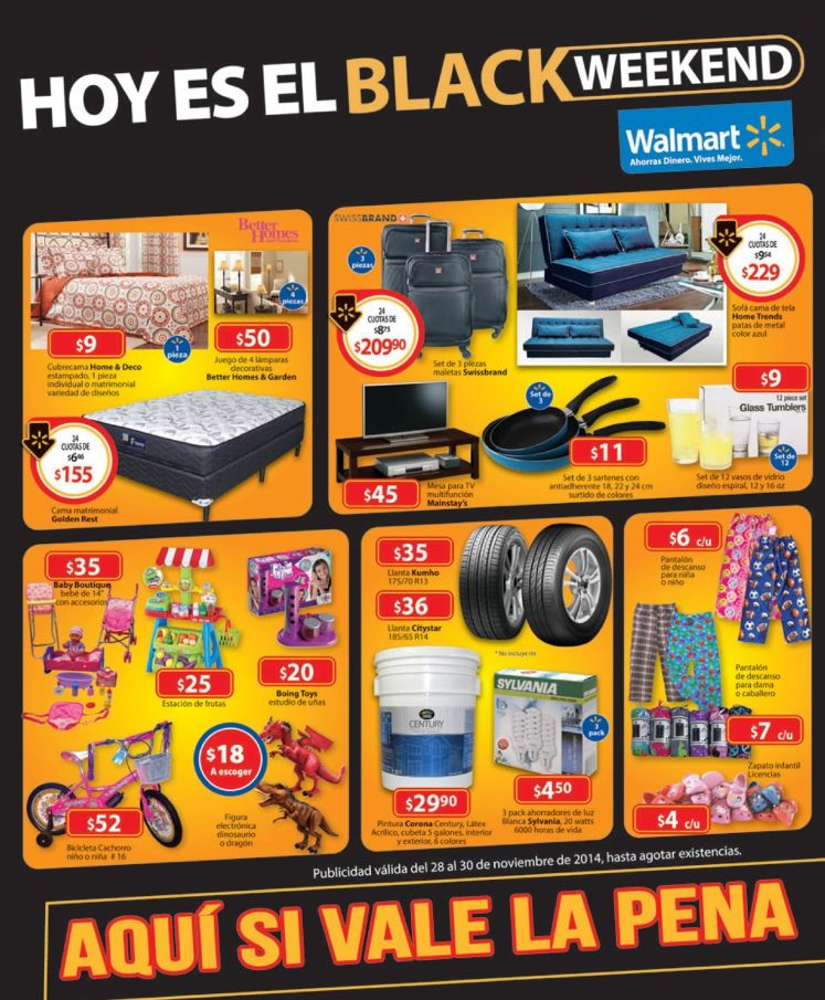 Todo acerca del BLACK WEEKEND WALMART - 28nov14