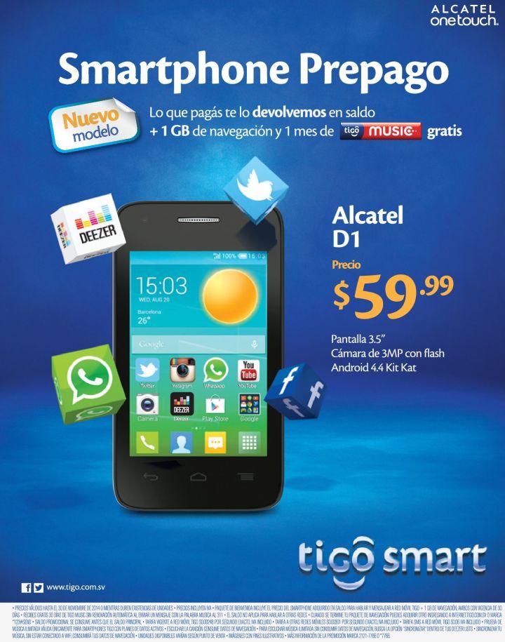 basic smartphone ALCATEL d1 offer - 13nov14
