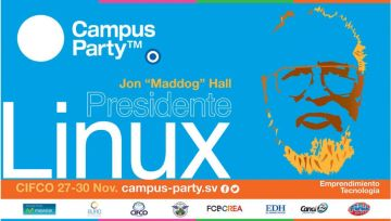 conferencia del presidente de LINUX campus party