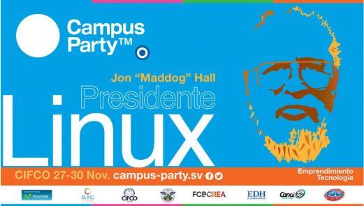 conferencia del presidente de LINUX campus party