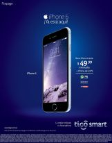 iPhone 6 plan postpago tigo desde 49.99 dolares - 26nov14