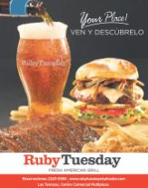new restaurant TERRAZAS MULTIPLAZA Ruby Tuesday fresh american GRILL