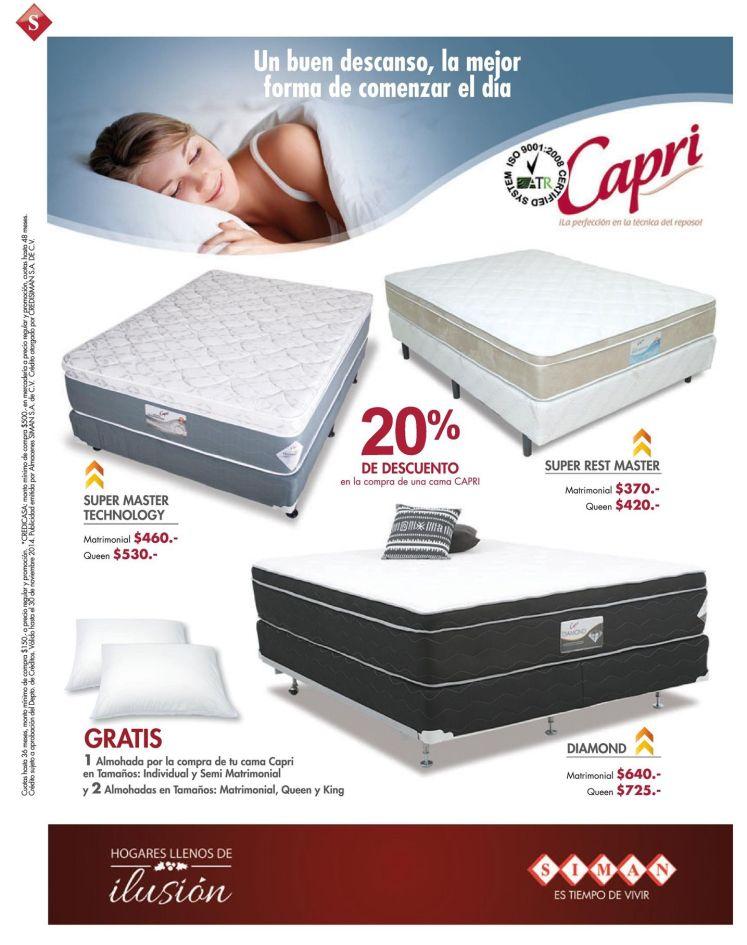 ofertas en camas CAPRI en almacene SIMAN - 21nov14