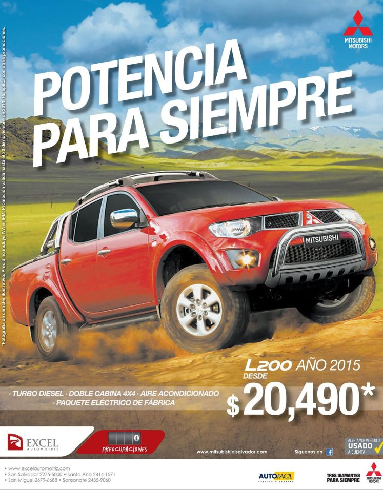 pickup turbo disel MITSUBIHI - 20nov14
