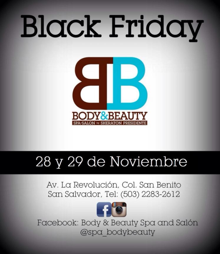 spa salon BODY and BEAUTY black friday - 26nov14