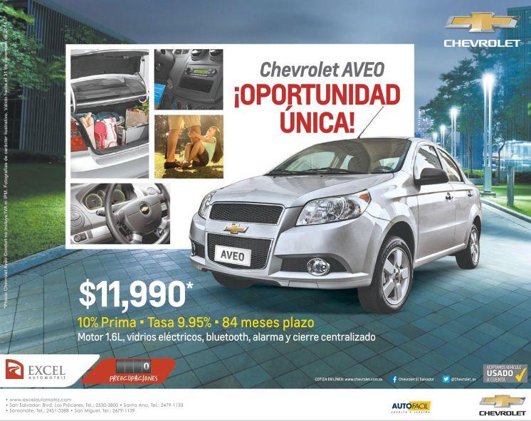 AUTO SALE promotions chevrolet AVEO 2015