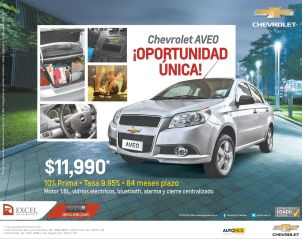AUTO SALE promotions chevrolet AVEO 2015