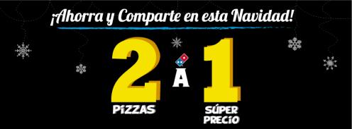 Ahorra y comparte en navidad DOMINOS PIZZA ofertas