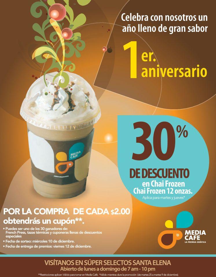 CUPONES y descuentos chai frozen MEDIA CAFE - 02dic14