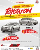 Maraton de precios bajos TOYORA YARIS and RAV4