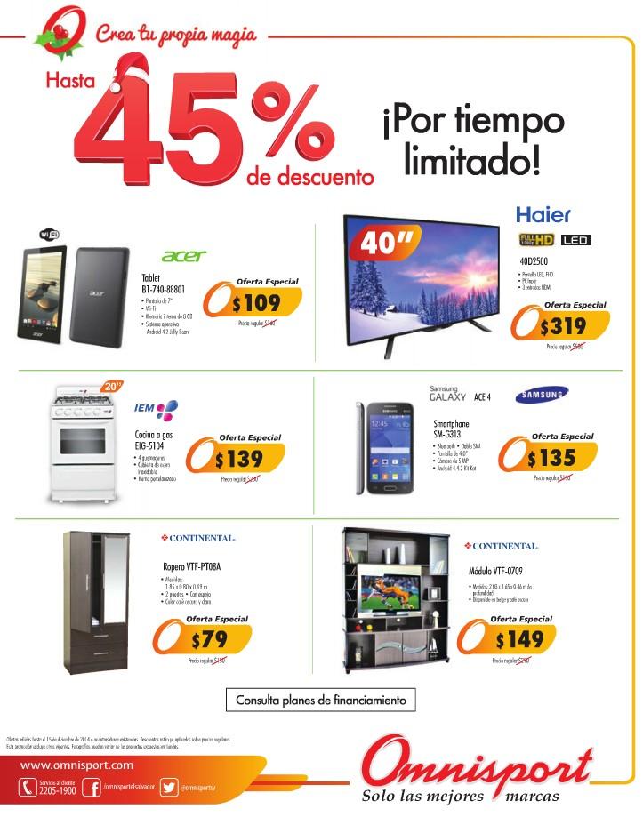 Ofertas especial productos electronicos OMNISPORT DESCUENTOS - 11dic14