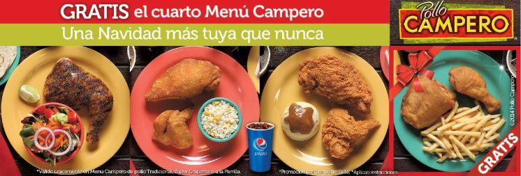 Promocion POLLO CAMPERO el cuarto menu GRATIS - 04dic14