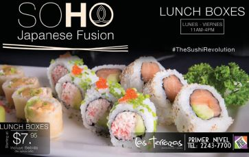 SOHO japanese fusion LUNCH BOXES promotions - 08dic14